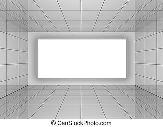 ściana, wewnętrzny, abstrakcyjny, pokój, czysty