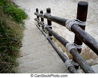 ścieżka, do, przedimek określony przed rzeczownikami, plaża.