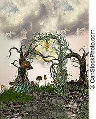 ścieżka, drzewo