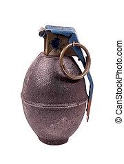 ścieżka, strzyżenie, -, granat, ręka