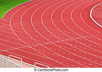 ślad, wyścigi, sport