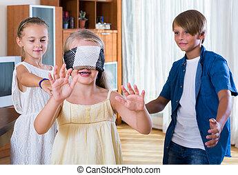 ślepy, być w domu, interpretacja, rubaszny, dzieci, człowiek