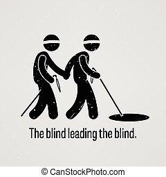 ślepy, przewodniczy