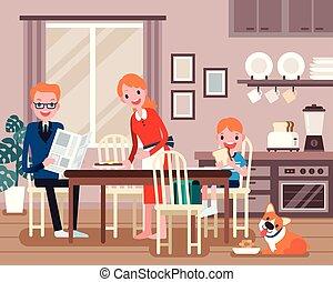 śliczny, rodzina, litery