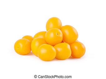 śliwki, żółty