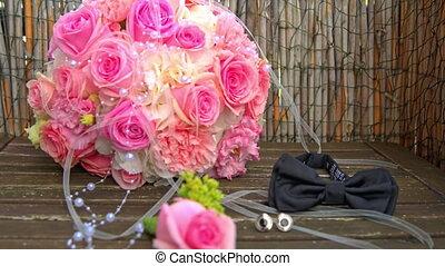ślub, accessories:, bukiet, boutonniere, bowtie, ring, cufflinks