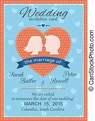 ślub, karta, zaproszenie