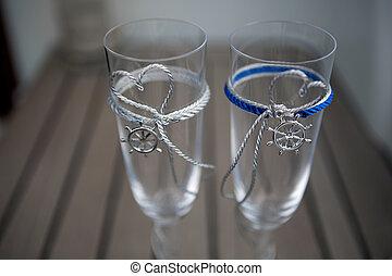 ślub, okulary