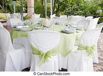 ślub, stół