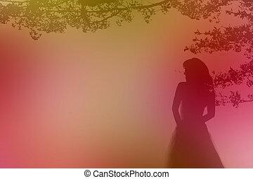 ślub, tło