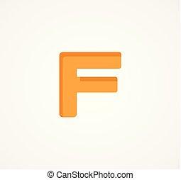 śmiały, alfabet, nowoczesny, symbol., wektor, element., litera, geometryczny, chrzcielnica, f.