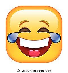 śmiech, emoticon