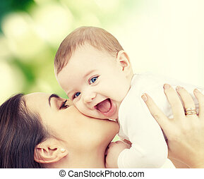 śmiech, niemowlę, interpretacja, z, macierz