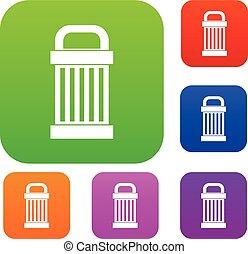 śmieci, komplet, zbiór