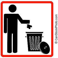 śmieci, odpadki, wyrzucanie, może