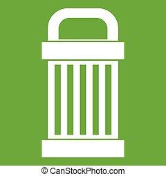 śmieci, zielony, ikona