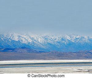 śmierć, usa, narodowy park, dolina, sól, kalifornia, rondel