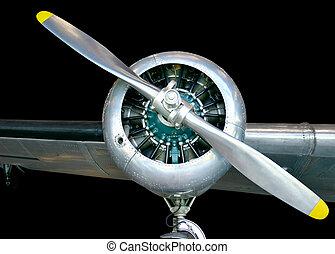 śmigłowy samolot