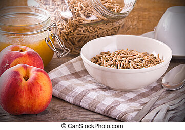 śniadanie, cereal.