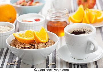 śniadanie, zdrowy