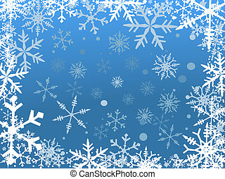 śnieg, brzeg