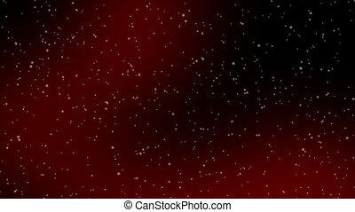 śnieg, czerwony, lave