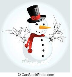 śniegowy człowiek