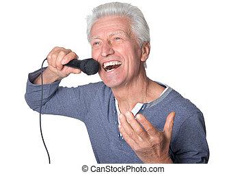 śpiew, człowiek, karaoke
