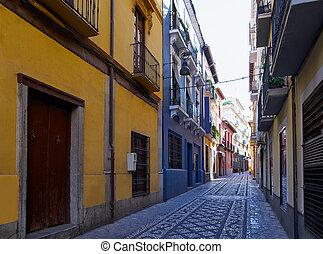 śródmieście okręg, realejo, granada, hiszpania