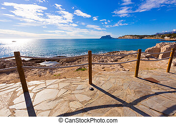 śródziemnomorski, alicante, moraira, hiszpania