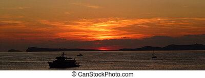 śródziemnomorski, zachód słońca