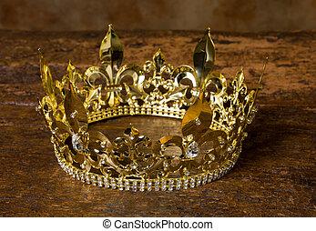średniowieczny, korona