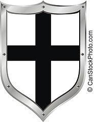 średniowieczny, tarcza, teutonic, klasa