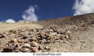 środek, kamień, pustynia, wschód