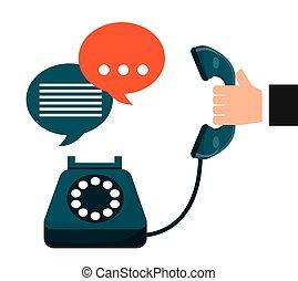 środek, rozmowa telefoniczna, projektować