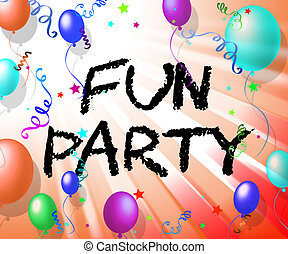 środki, radosny, świętując, zabawa, partia, radosny