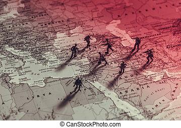 środkowy wschód, conflict.
