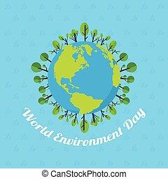 środowisko, afisz, słowo, dzień, ziemia
