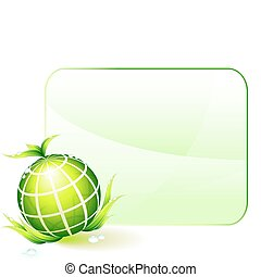 środowiskowy, kula, konserwacja, zielone tło