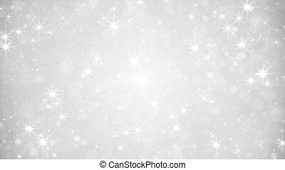świąteczny, loopable, tło, kurz, srebro, błyszcząc