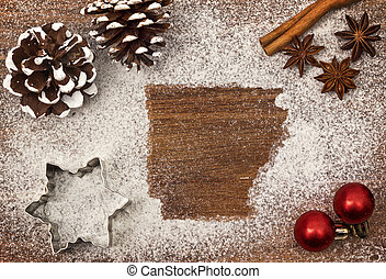 świąteczny, motyw, od, pył, w, przedimek określony przed...