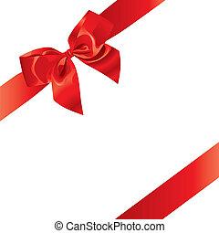 świąteczny, (vector), łuk