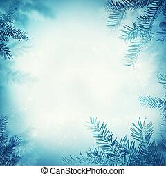 świąteczny, zima, tło