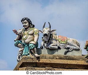 świątynia, indianin, kapaleeswarar, szczegół
