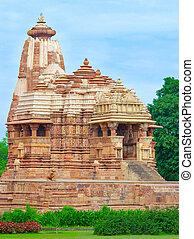 świątynia, indie, khajuraho