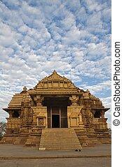 świątynia, khajuraho, chitragupta, indie
