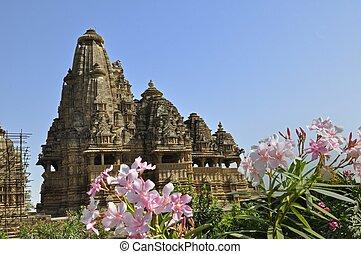 świątynia, khajuraho, vishvanatha, indie
