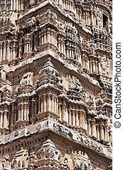 świątynia, szczegół, virupaksha