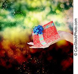 święto, boże narodzenie, box., dar