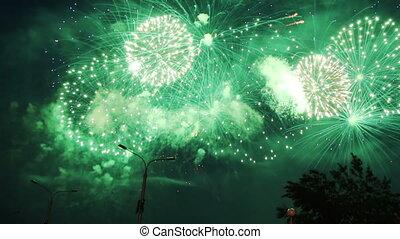 święto, fajerwerki, celebrowanie